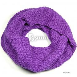 """Шарф-снуд детский, женский """"цвета Крокус"""", фиолетовый, вязаный, зимний, для женщин и девочек"""