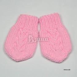"""Варежки - царапки """"Лапушка"""", розовые, вязаные, детские, осенние, весенние, для девочек"""