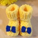 """Пинетки """"Солнечные"""" жёлтые, вязаные, детские, для девочек, осенние, весенние, летние"""
