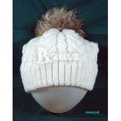 Женская зимняя шапка Косы