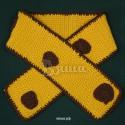 """Шарф детский """"Жирафику"""", желтый с коричневыми пятнами, вязаный, для мальчиков и девочек"""