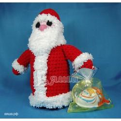 """Игрушка """"Дед Мороз"""" вязаная, к новому году"""