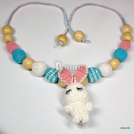 """Слингобусы с игрушкой """"Зайчик"""" вязаные, для мам, детские, для мальчиков и девочек"""